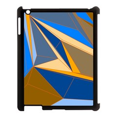 Abstract Background Pattern Apple Ipad 3/4 Case (black)