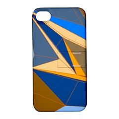 Abstract Background Pattern Apple Iphone 4/4s Hardshell Case With Stand