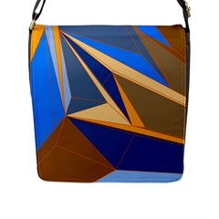 Abstract Background Pattern Flap Messenger Bag (l)