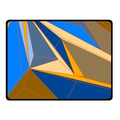 Abstract Background Pattern Double Sided Fleece Blanket (small)