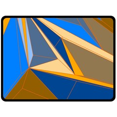 Abstract Background Pattern Double Sided Fleece Blanket (Large)