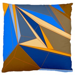 Abstract Background Pattern Large Flano Cushion Case (two Sides)