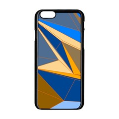 Abstract Background Pattern Apple Iphone 6/6s Black Enamel Case