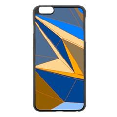 Abstract Background Pattern Apple Iphone 6 Plus/6s Plus Black Enamel Case