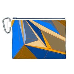 Abstract Background Pattern Canvas Cosmetic Bag (l)