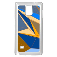 Abstract Background Pattern Samsung Galaxy Note 4 Case (White)