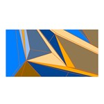 Abstract Background Pattern Satin Wrap Front