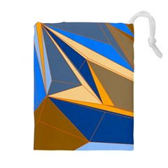 Abstract Background Pattern Drawstring Pouches (extra Large)