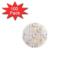 Icon Media Social Network 1  Mini Magnets (100 pack)