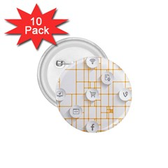 Icon Media Social Network 1 75  Buttons (10 Pack)