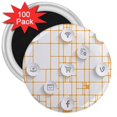 Icon Media Social Network 3  Magnets (100 pack)