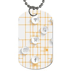 Icon Media Social Network Dog Tag (Two Sides)