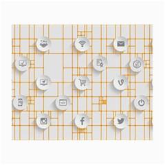 Icon Media Social Network Small Glasses Cloth