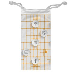 Icon Media Social Network Jewelry Bag
