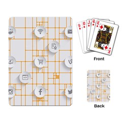 Icon Media Social Network Playing Card