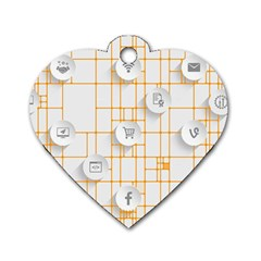 Icon Media Social Network Dog Tag Heart (two Sides)
