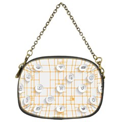 Icon Media Social Network Chain Purses (one Side)