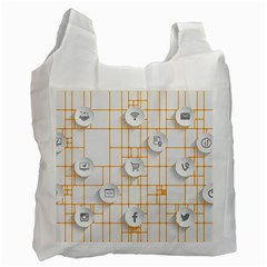 Icon Media Social Network Recycle Bag (two Side)