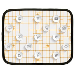 Icon Media Social Network Netbook Case (xxl)