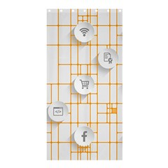 Icon Media Social Network Shower Curtain 36  x 72  (Stall)
