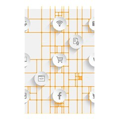 Icon Media Social Network Shower Curtain 48  X 72  (small)