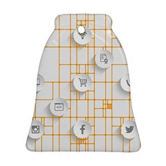 Icon Media Social Network Bell Ornament (two Sides)