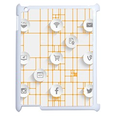 Icon Media Social Network Apple iPad 2 Case (White)