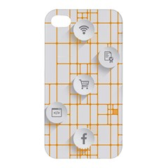 Icon Media Social Network Apple Iphone 4/4s Hardshell Case
