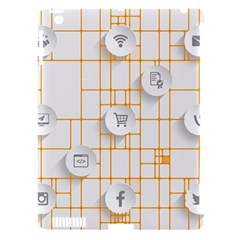 Icon Media Social Network Apple Ipad 3/4 Hardshell Case (compatible With Smart Cover)