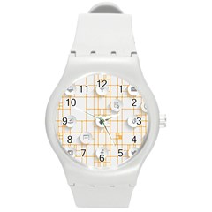 Icon Media Social Network Round Plastic Sport Watch (m)
