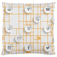 Icon Media Social Network Large Cushion Case (two Sides)