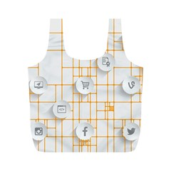 Icon Media Social Network Full Print Recycle Bags (M)