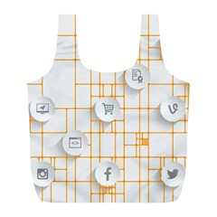 Icon Media Social Network Full Print Recycle Bags (l)