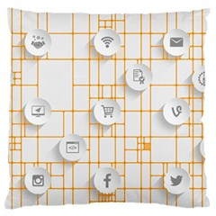 Icon Media Social Network Large Flano Cushion Case (two Sides)
