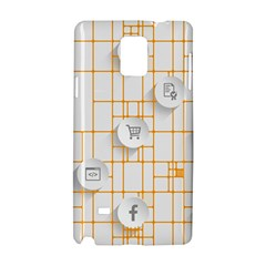 Icon Media Social Network Samsung Galaxy Note 4 Hardshell Case