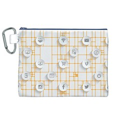 Icon Media Social Network Canvas Cosmetic Bag (xl)