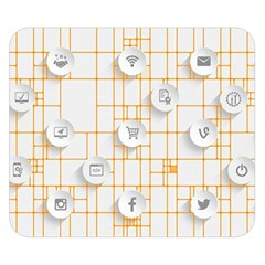 Icon Media Social Network Double Sided Flano Blanket (small)