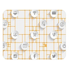 Icon Media Social Network Double Sided Flano Blanket (large)