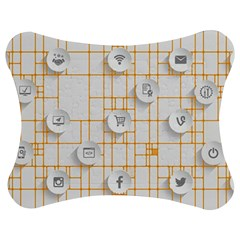 Icon Media Social Network Jigsaw Puzzle Photo Stand (bow)