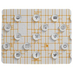 Icon Media Social Network Jigsaw Puzzle Photo Stand (rectangular)