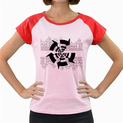 Arrows Top Below Circuit Parts Women s Cap Sleeve T Shirt
