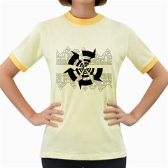 Arrows Top Below Circuit Parts Women s Fitted Ringer T Shirts