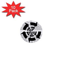 Arrows Top Below Circuit Parts 1  Mini Buttons (10 pack)