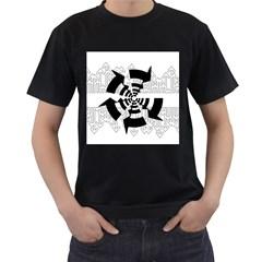 Arrows Top Below Circuit Parts Men s T Shirt (black)