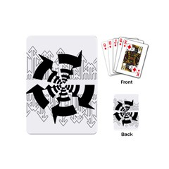 Arrows Top Below Circuit Parts Playing Cards (mini)