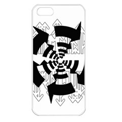 Arrows Top Below Circuit Parts Apple Iphone 5 Seamless Case (white)