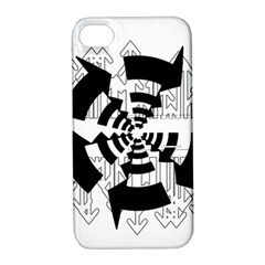 Arrows Top Below Circuit Parts Apple Iphone 4/4s Hardshell Case With Stand