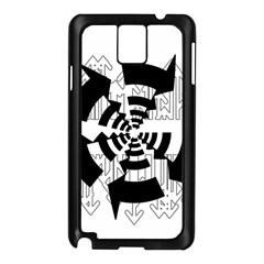 Arrows Top Below Circuit Parts Samsung Galaxy Note 3 N9005 Case (Black)