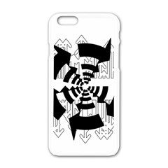 Arrows Top Below Circuit Parts Apple Iphone 6/6s White Enamel Case