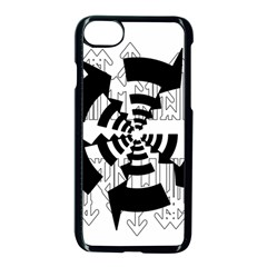Arrows Top Below Circuit Parts Apple Iphone 7 Seamless Case (black)